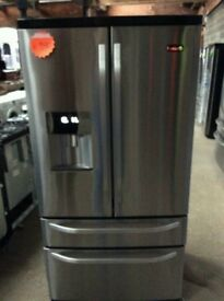 Ex Display Stainless Steel RangeMaster Frost Free A+++American Fridge Freezer With Water Dispenser