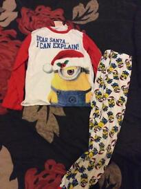 Boys minion xmas pj's 7-8 years