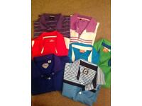 Men's gold polo shirts -large