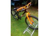 "X-Rated Exile Jump Bike Bicycle 24"" Inch Wheels V-Brakes Steel Frame in Black"