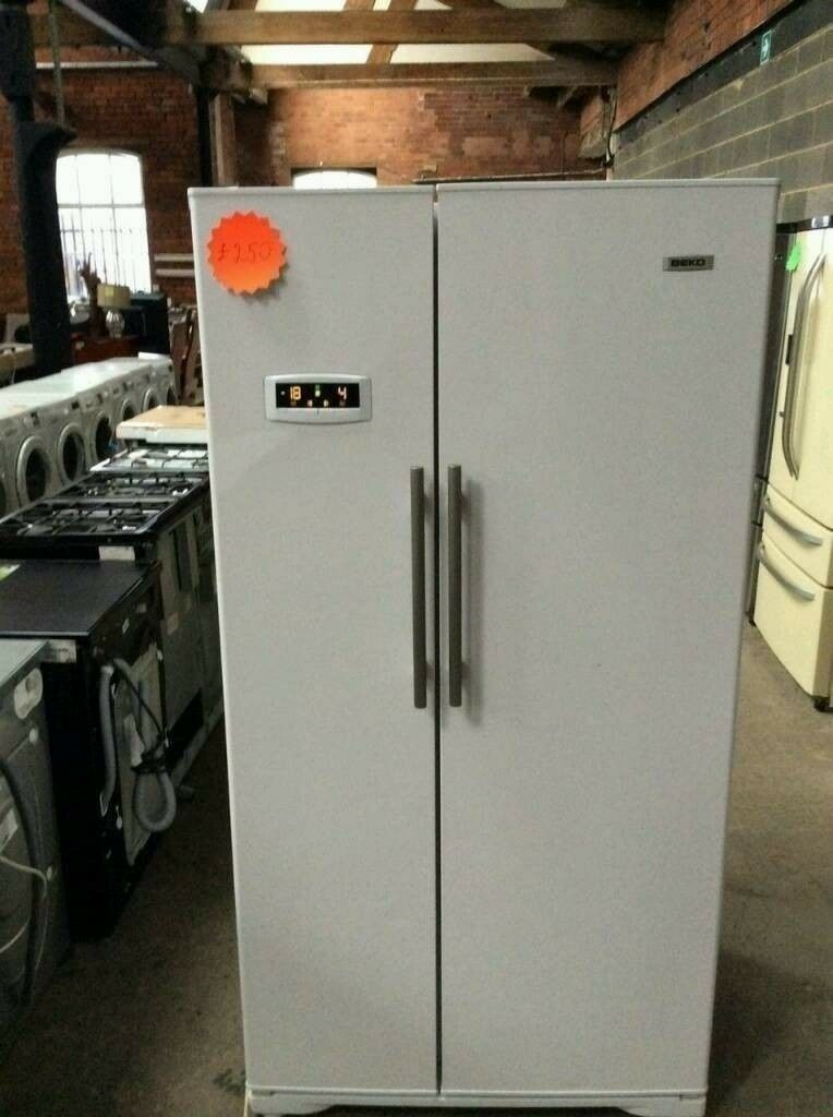 Sale White Beko A++ Class Frost Free Double Door American Style Fridge Freezer in Good Working Order