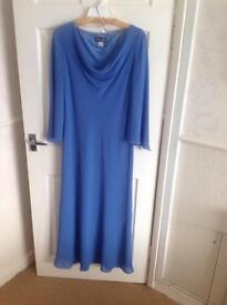 Ladies Long Blue Dress Size 14
