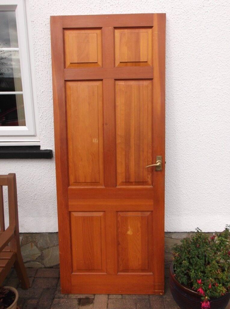 6 Panel Douglas Fir Internal Doors X 2 In Clynderwen