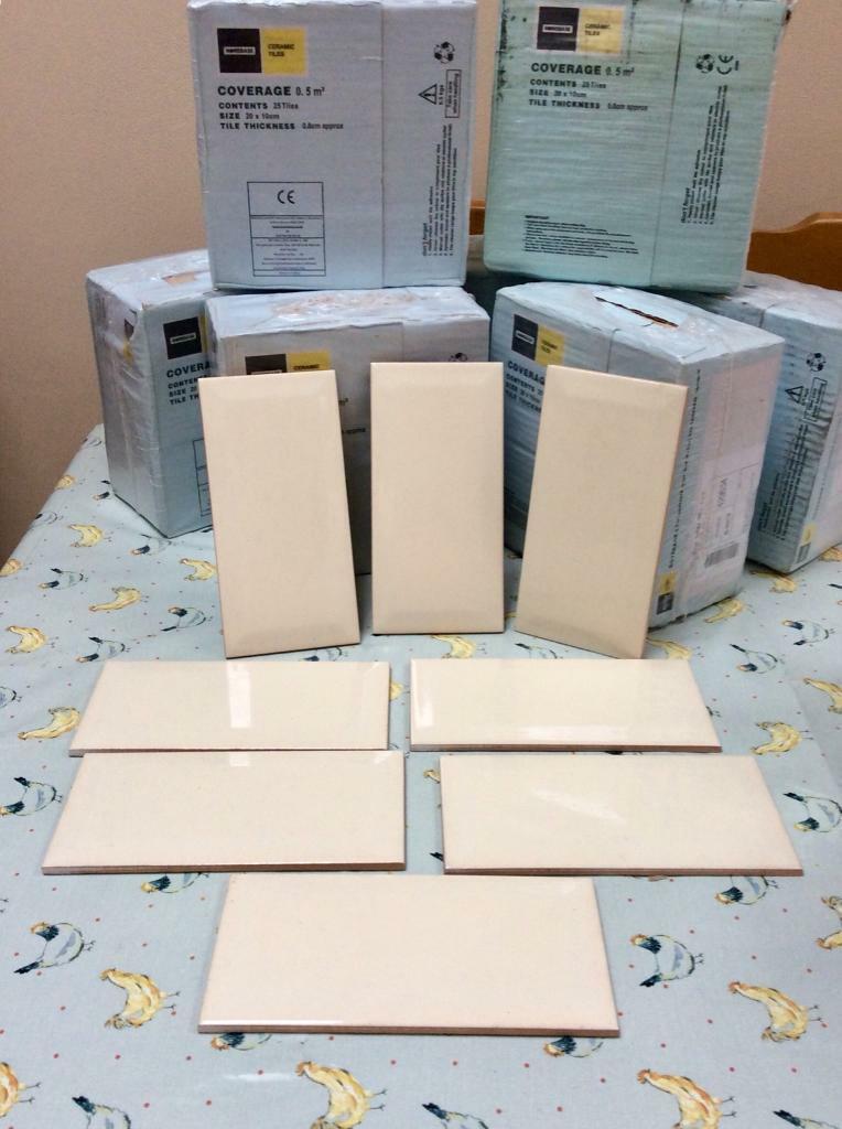 New Homebase Metro Cream Ceramic Wall Tiles 8 Bo 25 Per Box In Highbridge Somerset Gumtree