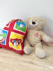 Build-A-Bear teddy & clothes