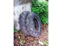yard clearance - 2 old tractor tyres free - see also my ad riello burner and warm flow boiler £110