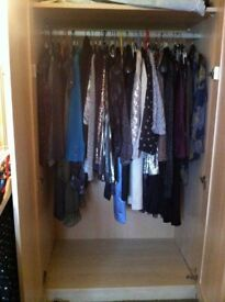 Huge 250 plus bundle of womens clothes and accessories (some mens)