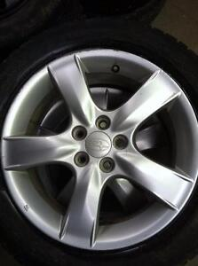 "4 - Subaru Impreza 16"" Alloy Rims (5X100) with Center Caps"