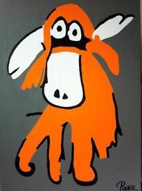 Original Moose painting