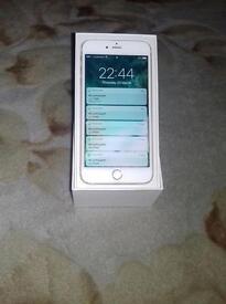 iPhone 6 Plus 16gb unlocked gold +leather case