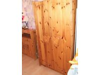 FURNITURE FOR SALE CHILDS WARDROBE + COT BED + CHANGEING STATION