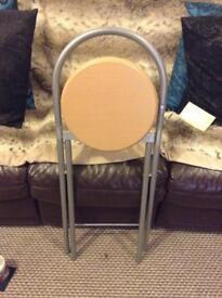 Folding stools pair