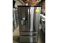 Ex Display A+++ Frost Free Stainless Steel RangeMaster American Fridge Freezer With Water Dispenser