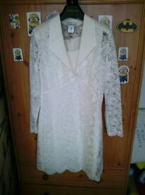 Mother of the bride 2 piece suit size 12 by day to night