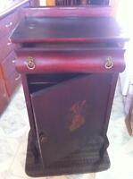 Antique Phonograph table with record storage