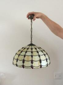 Tiffany effect pendant light shade
