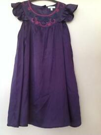 Purple blue zoo dress age 5-6