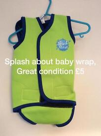 Baby swimming wrap