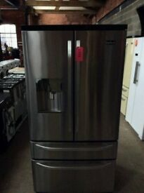 Ex Display Stainless Steel RangeMaster Total No Frost A+++ American Style F- F With Water Dispenser