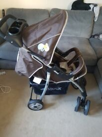 Hauck baby stroller and car seat