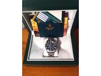 mens rolex watch submariner green face new boxed