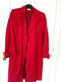 Red trench coat size 8