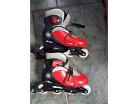 Children's Inline Skates Size 2-4 (adjustable)