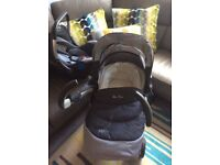 Silver cross denim full travel system excellent condition