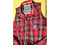 Womens Official Superdry Tie Front Check Shirt (Size - Small)