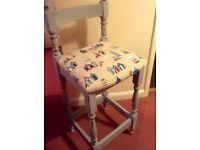 Pair of identical Breakfast Bar Chairs Grey Shabby Chic Beachhuts