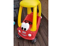 LITTLE TIKES COZY COUPE RED YELLOW CAR