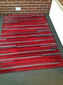 Next red stripe rug - 120x170cm (collection only)