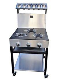 Commercial Gas Cooker 3 Burner EN68 SR