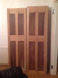 4 solid wooden doors