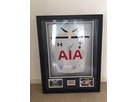Signed Tottenham fc shirt Kane/Ali/Ericsson great display mint condition great for any fan
