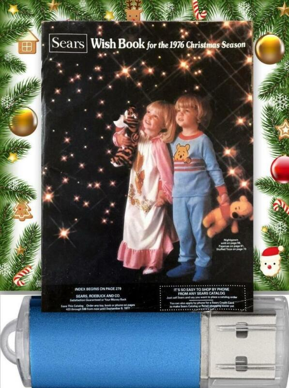 Vintage 1976 Sears Christmas Wishbook / Catalog On USB Drive See Pictures