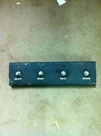 Bogner pedal switch, requires xlr cable.