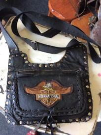 Antique Harley Davidson biker bag
