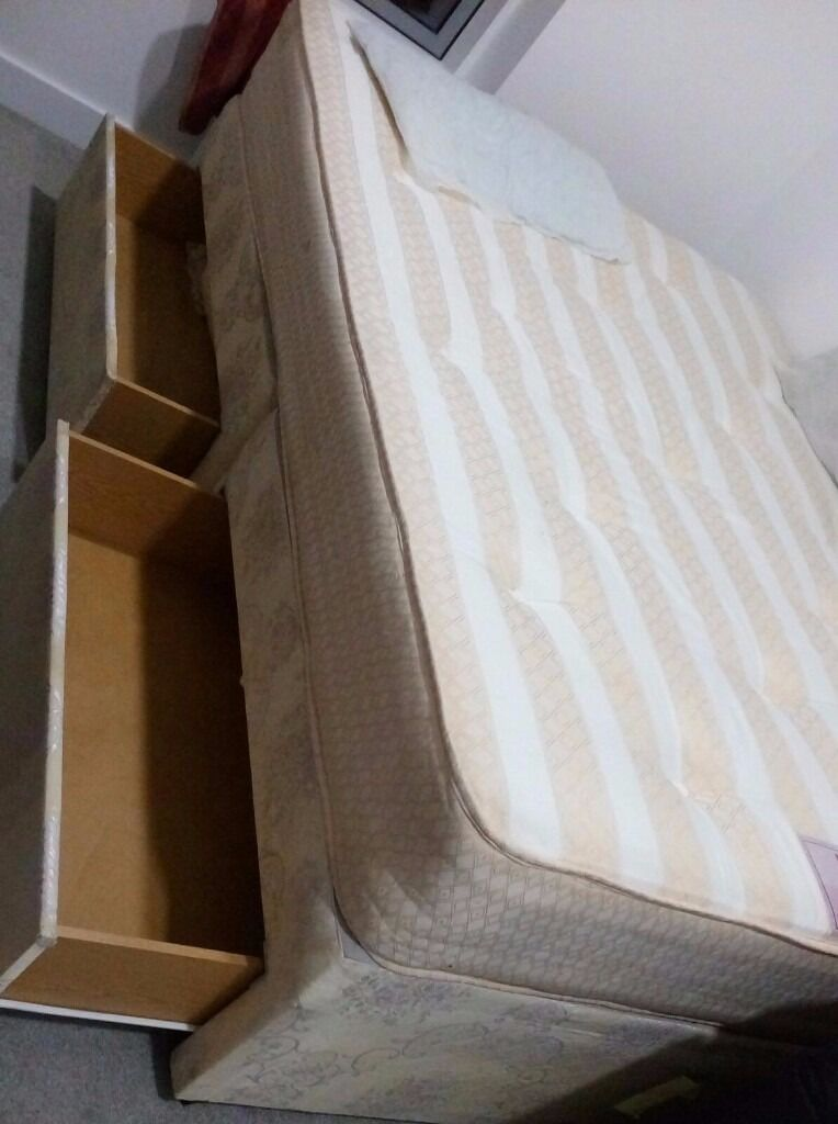 Double bed with mattressin Bracknell, BerkshireGumtree - 1. Double Divan bed with 2 boxes with mattress £140 Available July 22. 2. Double Divan bed with 4 boxes with mattress £160 Available July 26. 3. Double bed with mattress £120 July 26 Collection only