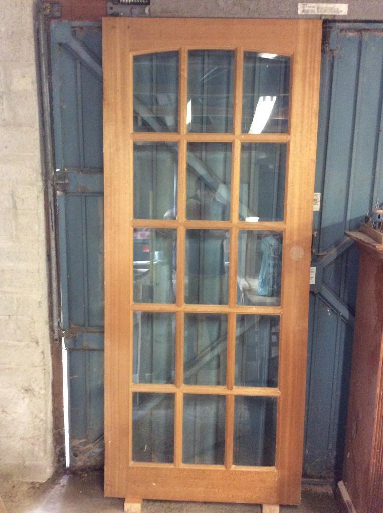 15 Pane Bevelled Glass Interior Door Free In Tavistock Devon