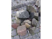 Sandstone Rockery Stones - Mixed Sizes (2)