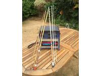 Fishing box and 2 rods