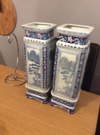 Blue vase set