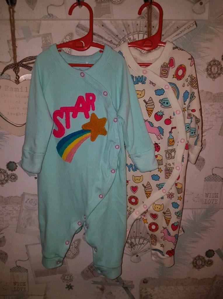 GORGEOUS NEXT RAINBOW ROMPERS AGE 3-6 MTHS X