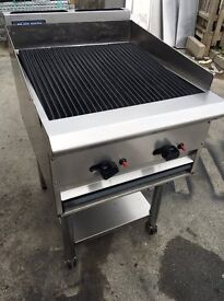 Blueseal Counter Top Chargrill 2 Burner 90cm with Stand