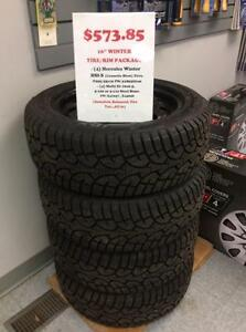 """Winter Tire Special"" 205/55R16 Her/Ironman HSI-I and 16x6.5, 5-110 OR 5-112 Steel Rims"
