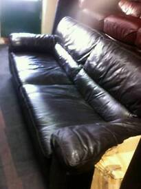 Dark Brown 2 and 3 Seater Sofa Set, good condition