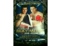 Ricky Hatton home coming signed poster and picture