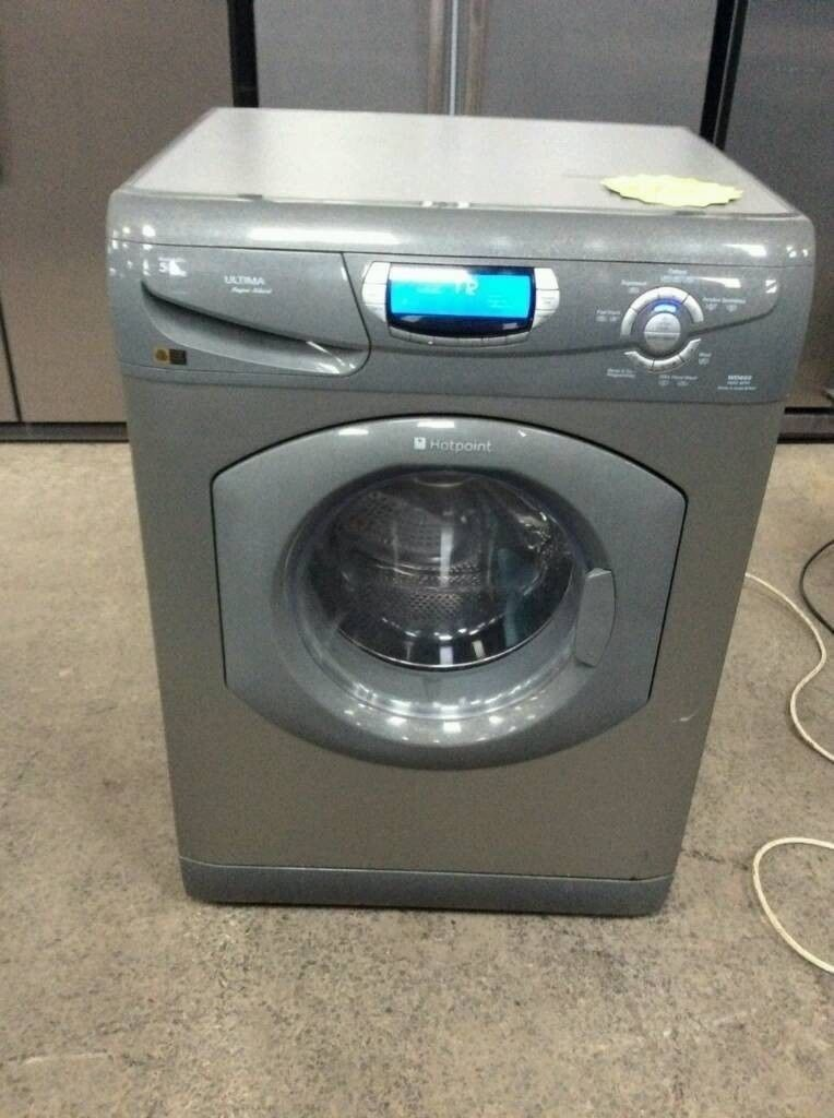 Silver Hotpoint Washer&Dryer 5/5 Kg (Comes with 3 Months Warranty)