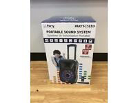 Party light & sound Portable sound system boxed new